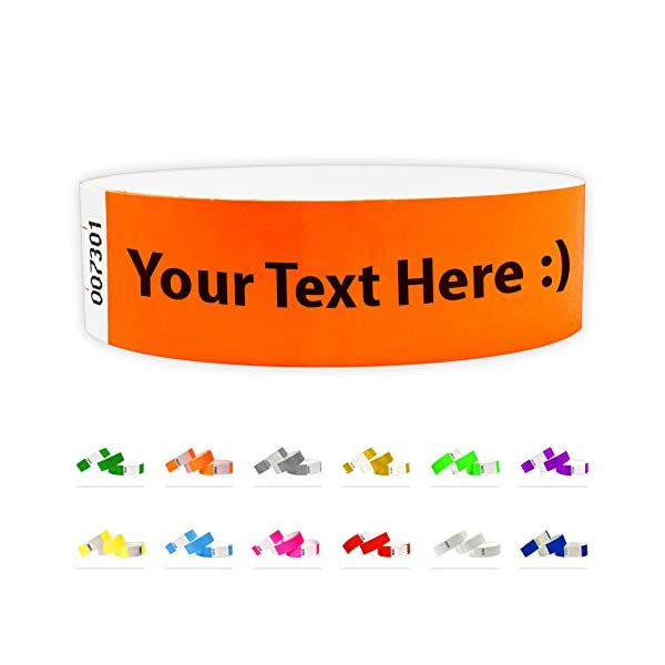 Custom 3/4″ Tyvek Wristbands for Events – Bracelets Printed with Your...