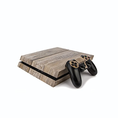 Premium PS4 PlayStation 4 Wood Effect Vinyl Wrap / Skin / Cover for PS4 Console and PS4 Controllers: Rustic