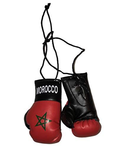 Gifts & Gadgets Co. Mini-Boxhandschuhe, marokkanische Flagge, ideal für jedes Auto, Lieferwagen, LKW oder Zuhause