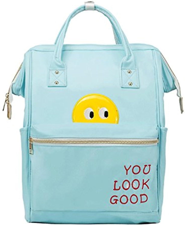 GJ Backpack  Sweet Student Bag Female Shoulder Bag High Capacity Casual Traveling Backpack (color   blueee)