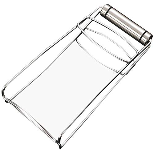 wivarra Kitchen Tool Anti-Scalding Tray Cup Holder Take Tray Clip Casserole Clip Bold for Home Hot Dish Plate Bowl Clip, Silver