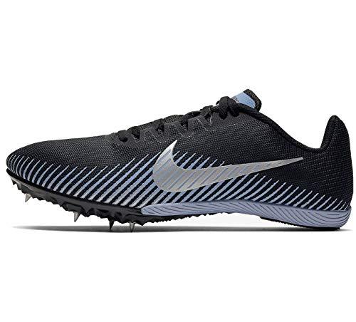 Nike Zoom Rival M 9 Mens Track Spike (Black/Metallic Silver-Indigo Fog, Numeric_9)