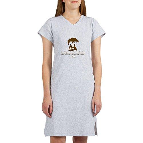 CafePress Mr Darcys Love Women's Nightshirt, Soft Long Pajama Shirt, Cotton PJs/Pyjamas Heather Grey