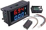 TECNOIOT DC voltímetro amperímetro Azul 100V 10A + LED Rojo voltímetro Digital Doble Amplificador Calibre