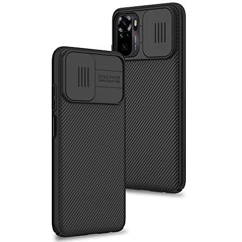 Funda para Xiaomi Redmi Note 10 4G / Note 10s, Protección de la cámara Carcasa Cubierta de cámara Deslizante Proteger Ultra-Delgado Híbrida PC Anti-Choque Anti-arañazos - Negro