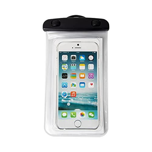 Mask.ok Funda funda impermeable IPX8 correr pesca viaje barco playa documentos dinero llaves para móvil smartphone 5.5' (transparente)