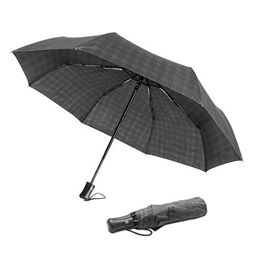Boy® Paraguas automático, compacto, de viaje, resistente al viento,