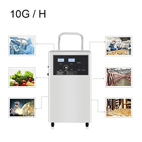 Ozon Generator Luchtreiniger, 10G / H Mobiele Ozon Machine Formaldehyde Verwijdering Luchtreiniger Thuiskantoor Voedsel Fabriek Medische Werkplaats Sterilisatie Ozon Desinfectie Machine