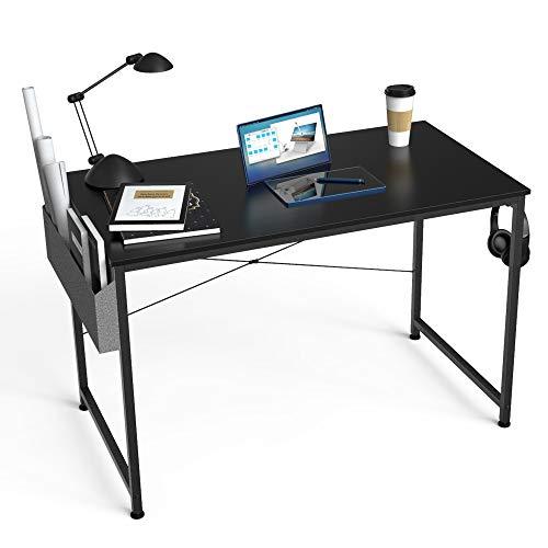 HOMIDEC Escritorio de Ordenador, Mesa de Oficina, Mesa de Ordenador con Bolsa de Almacenamiento ,Fácil de Montar, Mesa de Escritura para Oficina en Casa, Mesa de Ordenador 100 x 60 x 75 cm (Negro)