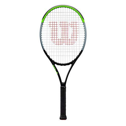 Wilson Raqueta de tenis, Blade 26, Para niños de más de 11 años, Grafito, Negro/gris/verde lima, WR014310U