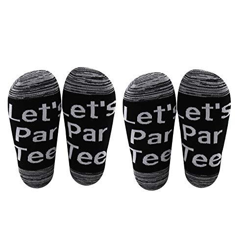 AATOP Divertidos regalos para amantes del golf Let's Par Tee calcetines de golf regalos para hombres golfista, club de golf, equipo de golf, regalo del día del padre