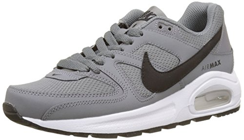 Nike Unisex-Kinder Air Max Command Flex (GS) Sneaker, Grau (Cool Grey/Black White), 35.5 EU