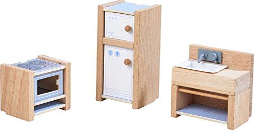 HABA 303838 - Little Friends – Puppenhaus-Möbel Küche | Mit Herd, Kühlschrank und Spüle | Passend für alle Little Friends-Puppenhäuser