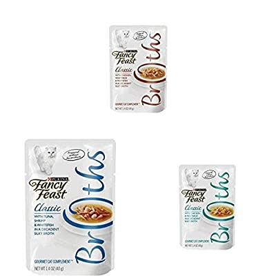 Purina Fancy Feast Broths Chicken Collection Adult Wet Cat Food Complement Variety Pack