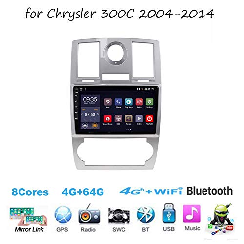 Android 8.1 Radio Estéreo 9 Inch Pantalla Táctil Capacitiva para Chrysler 300C 2004-2014 Navegación Cámara De Respaldo Estéreo Audio FM/Am/RDS Radio Video Player WiFi Bluetooth SWC,8 cores,2G+32G