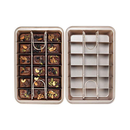 Non Stick Brownie Pan With Partition Chunked Brownie Pan Slicing Solution Brownie Pan Pan With BuiltIn Slicer