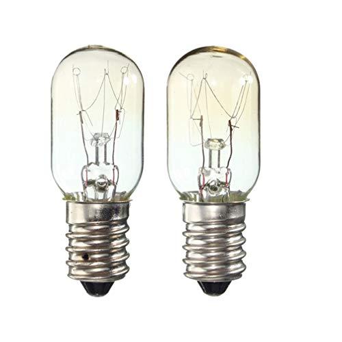 Uonlytech 2Pcs Kühlschrank Warmes Licht Wolfram Gelbes Licht E14 25 Watt Glühlampe für Kühlschrank Gefrierschrank Leuchten Dekorativ
