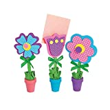 Flower Recipe or Picture Holder Craft Kit - Makes 12 - Spring Crafts and DIY Mother's Day Gifts