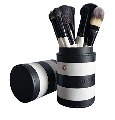 Morphe Set 706-12 Piece Black And White Travel Brush Set