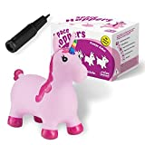 All Kids United Caballo saltando unicornio – Caballo saltador animal + bomba