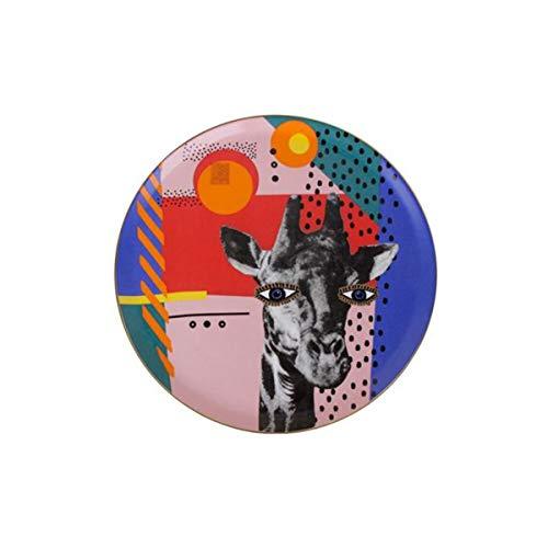 Porland Wild Life Giraffe - Plato de porcelana (28 cm, peso: 918 g, diámetro: 28 cm, altura: 28 cm, ancho: 28 cm, altura: 28 cm, material: porcelana)