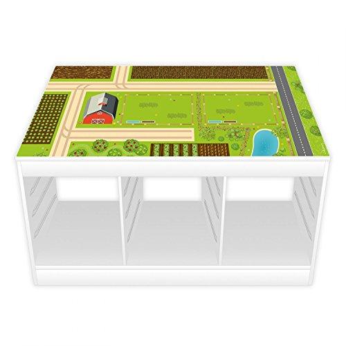 Spielfolie/Möbelfolie für IKEA TROFAST Bauernhof Aufkleber Sticker Kinderzimmer Spieltisch (Möbel Nicht inklusive)