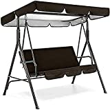 Patio Swing Canopy Waterproof Top Cover Set, Replacement Canopy Cover for 2/3-Seater-Swing Chair Awning Glider Swing Cover Outdoor Sunproof Chair Patio/Lawn/Garden All Weather Protection Porch Swings -  JHGF