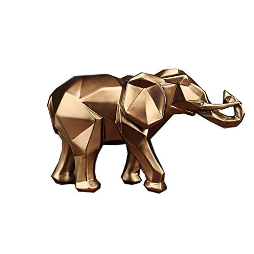 WQQLQX Statue Tierskulptur Elefant-Harz-Dekoration Ornamente Startseite Glück Feng Shui Wein Cabinet Office Möbel Handwerk Geschenk TV Schrank Weinklimaschrank Skulpturen