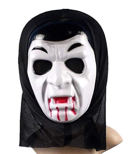 Lovelegis Vampir Kostüm Maske - Verkleidung - Karneval - Halloween - Dracula - Dämmerung - weiße Farbe - Erwachsene - Mann - Junge - Geschenkidee für Weihnachten und Geburtstag