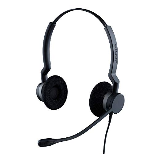 Jabra Biz 2300 QD Duo langlebiges Call-Center-Kabel-Headset mit Noise-Cancelling und Wideband für Unify OpenStage