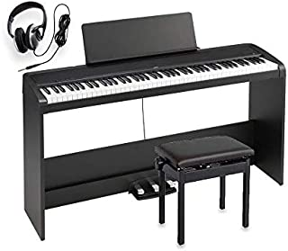 KORG コルグ / B2SP BK ブラック 電子ピアノ 高低椅子 ヘッドホン クリーナークロスセット B2 SP