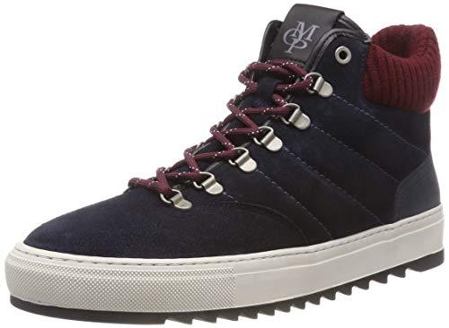 Marc O'Polo Herren Boot Hohe Sneaker, Blau (Navy/Black 501), 43 EU