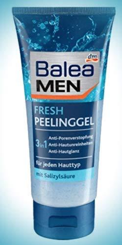 Männer Peeling Gel mit Salizylsäure, gegen Pickeln und Mitessern, 100 ml