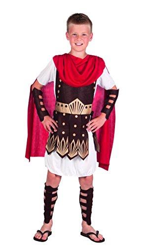 Boland 82128 - Kinderkostüm Gladiator, Tunika mit Rüstung, Umhang, Arm- und Beinschützer, verschiedene Größen, Römer, Motto Party, Karneval