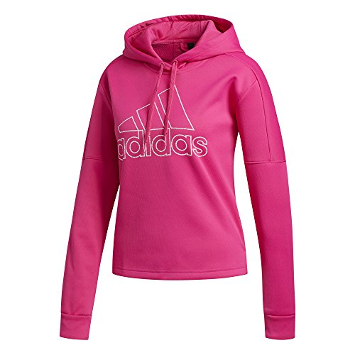 adidas Women's Athletics Team Issue Pullover Hoodie, Real Magenta, X-Small