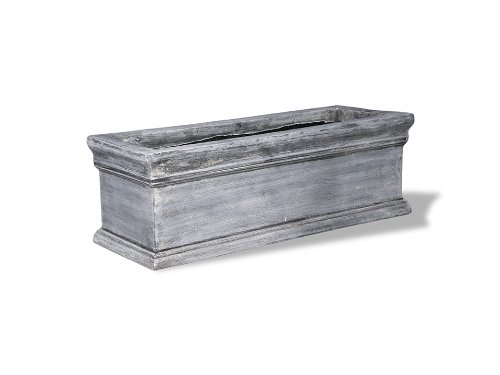 Amedeo Design ResinStone 2509-14C Classic Window Box, 25 by 9 by 9-Inch, Charcoal