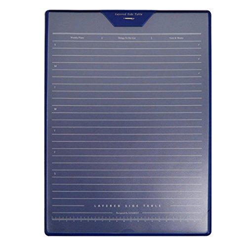 YAOSEN - Alfombrilla de piel sintética para ratón, diseño de capas, piel sintética, azul, talla única