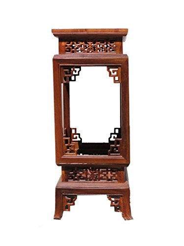 Chinese Yellow Rosewood Square Carving Plant Stand Pedestal Table Afs455