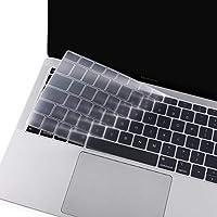 MOSISO Cubierta del Teclado Compatible con 2019 2018 MacBook Air 13 A1932 Retina, Piel de Silicona Protectora Impermeable a Prueba de Polvo (EU Layout sin Alfabeto Impreso), Claro