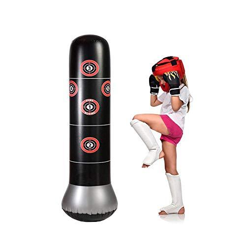 MOGOI Aufblasbarer Boxsack, aufblasbar, freistehend, Fitness-Ziel-Ständer, 63 Zoll Entlastungsdruck Bodybuilding für Kinder, Teenager und Erwachsene, andere