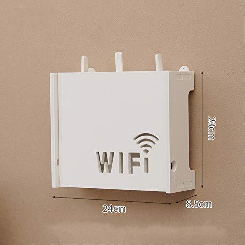 ZHAOYAN Router Rek Wandopknoping Wifi Plaatsing Rek Glasvezel Optische Kat Opbergdoos Hangende Muur Type 24 * 8,5 * 20 Wit