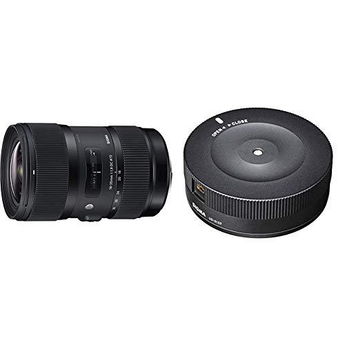 Sigma 18-35mm f/1.8 DC HSM - Objetivo para Canon (Distancia Focal 18-35mm, Apertura f/1.8-16, diámetro: 72mm) + USB Dock Canon - USB Dock para Objetivos Sigma Montura Canon de la Serie Art