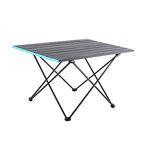 Mesa de camping plegable con tapa de aluminio mesa plegable en una bolsa para picnic, campamento, senderismo, picnic (color A: A)