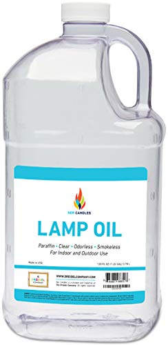 Liquid Paraffin Lamp Oil - 1 Gallon - Smokeless, Odorless, Ultra Clean Burning Fuel - Tiki Torch Fuel for Indoor and Outdoor Use