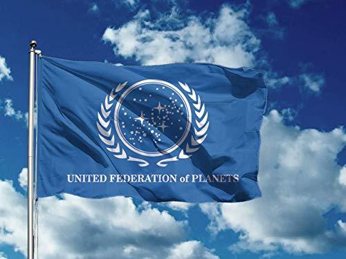 United Federation Of Planets | 250 x 150 cm / 5 x 8 ft Long Lasting Flag