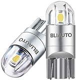 BLIAUTO t10 led ホワイト 爆光 ポジションランプ w5w led ナンバー灯 ライセンスランプ メーター球 ルームランプ ウエッジ球 コーナリングランプ車用 車検対応 3030チップ 2W 12V 2連 2個セット 1年品質サービス