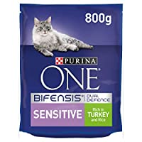 With PURINA ONE BIFENSIS. A unique nutritional formula with beneficial functional bacteria scientifically proven to help support your cat's natural defences from the inside out. Firm stools with 24 less odour in 14 days thanks to natural fibres Purin...