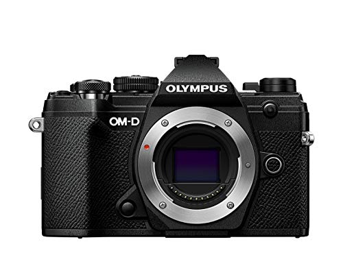 Olympus OM-D E-M5 Mark III Micro Four Thirds carcasa de la cámara, sensor de 20 MP, estabilizador de imagen de 5 ejes, potente autofoco, visor electrónico OLED, vídeo 4K, WLAN, Bluetooth, negro