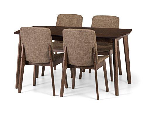 Julian Bowen Kensington Esstisch und 4Kensington Stühle, Holz, Walnuss