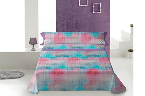 Lois kasis juego de sábanas 4 piezas, 50% algodo 50% poliester, gris cama 180x190/200